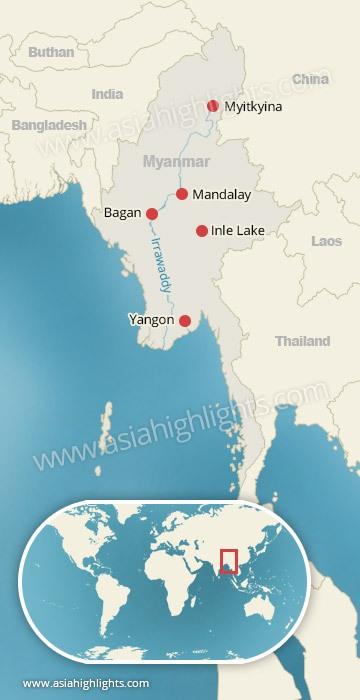 Where is Myanmar Myanmar Map Asia Highlights