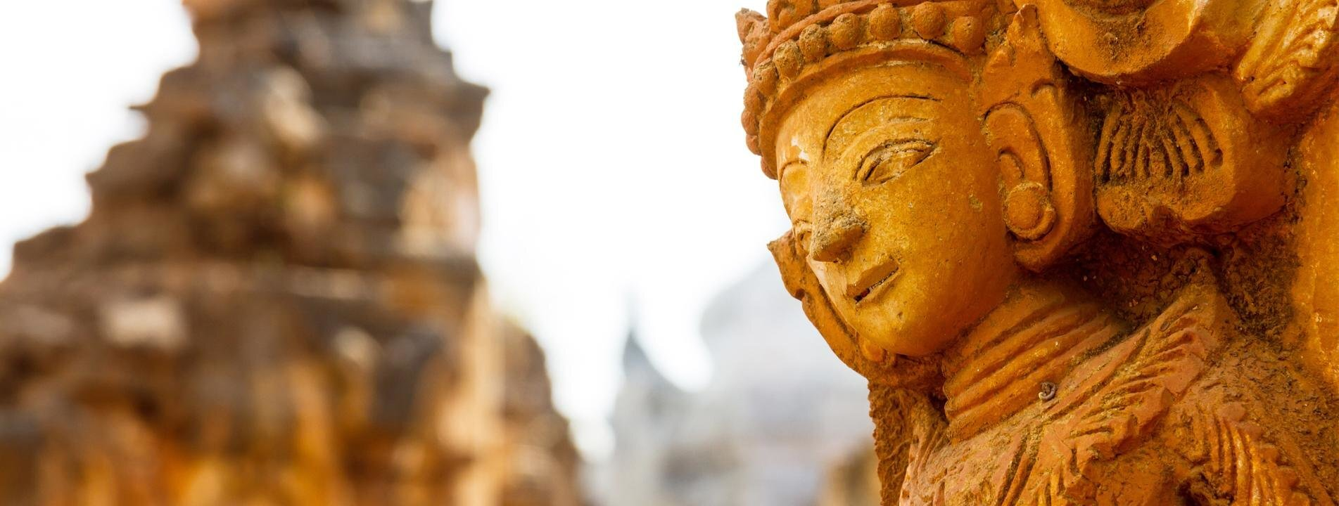 A Nat sculpture of Indein Pagoda Complex of Inle Lake