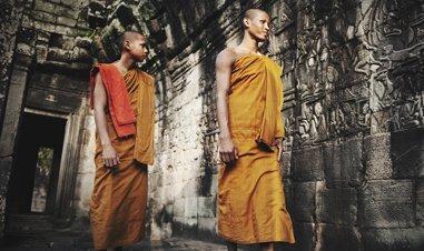 Angkor Wat Walking Monks