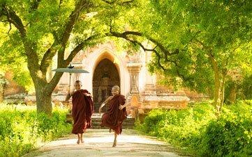 little monks in Bagan, Myanmar