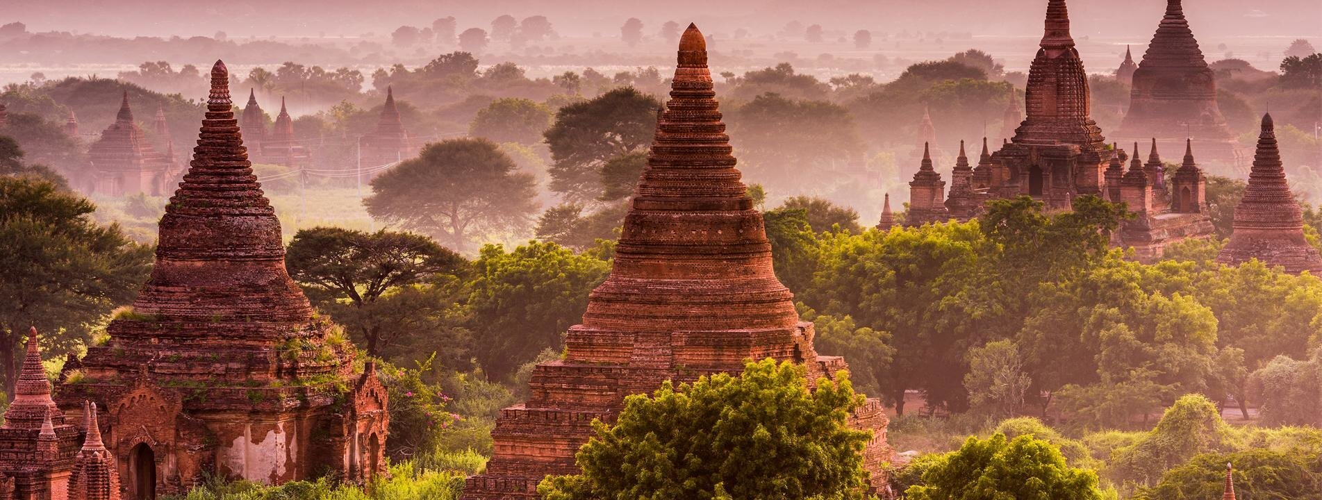 Bagan temples in the morning