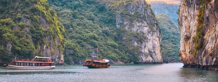 cruising on halong bay