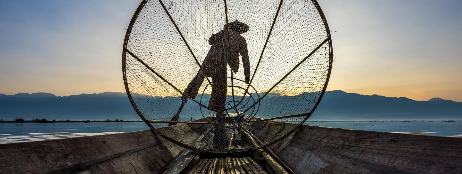 A local fisherman of Inle Lake