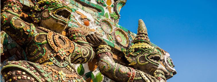 Guardian warriors of the Temple of Emerald Buddha