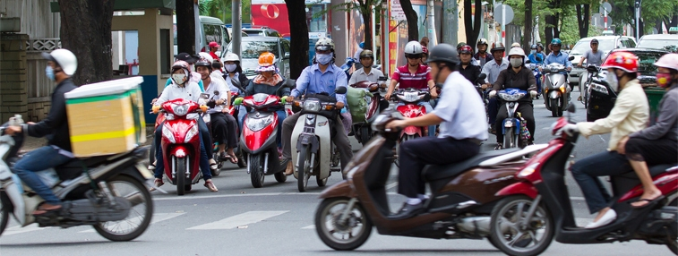 Motorbikes in Ho Chi Minh City