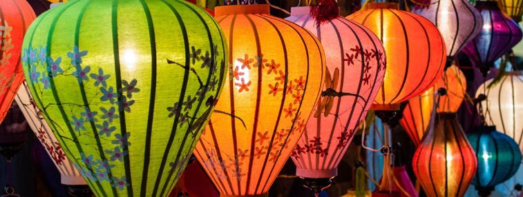 Lanterns light up the night of Hoi An
