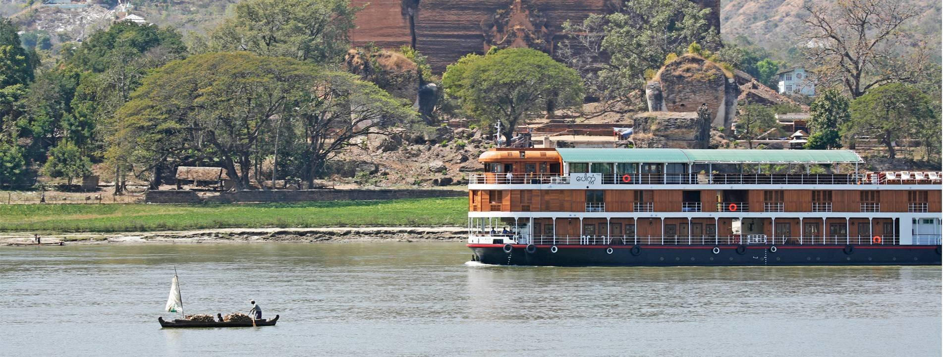 Cruising from Mandalay to Bagan on the Irrawaddy River