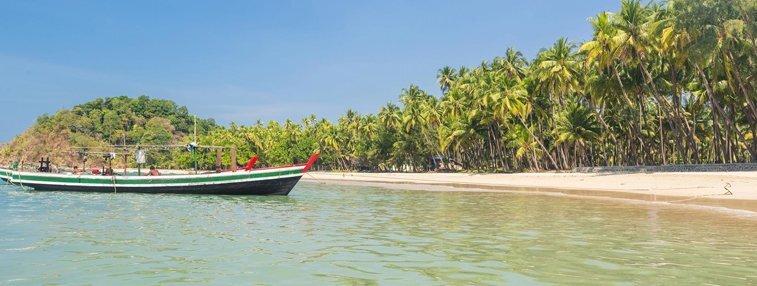 Beautiful beach of Ngapali