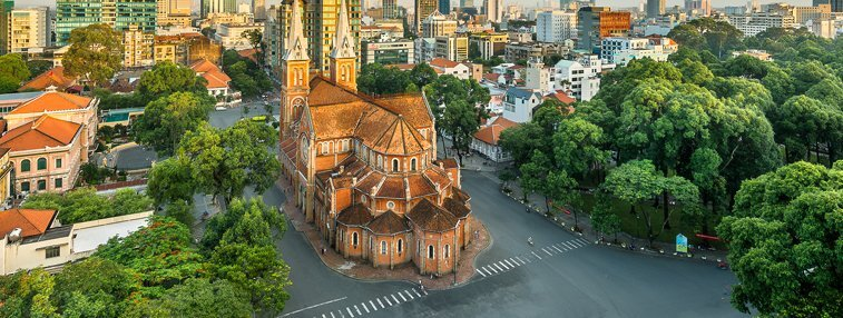 saigon notre dame cathedral in ho chi minh city