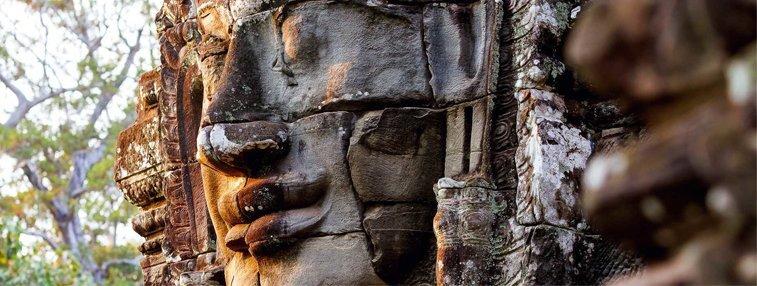 Stone face of Bayon