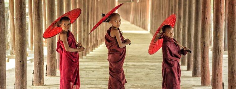 Three novices in Mandalay