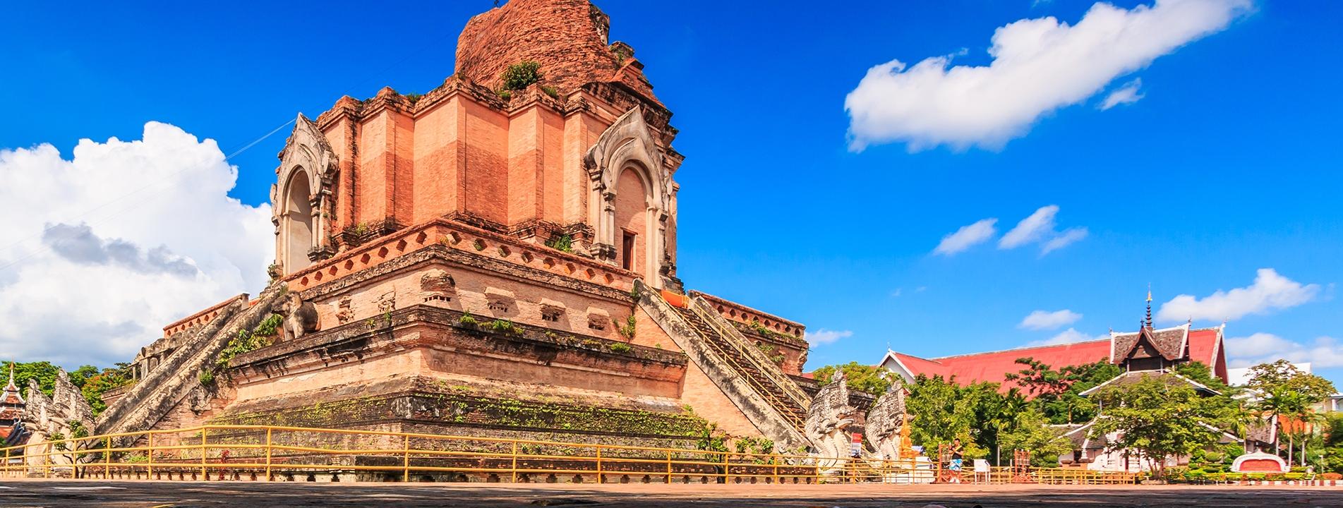 The Wat Chedi Luong in Chiang Mai