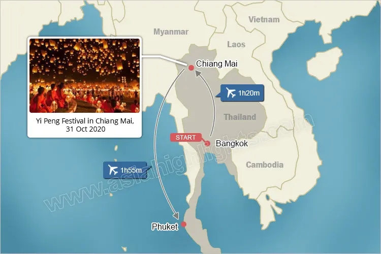 Chiang Mai Yee Peng Festival private Tour