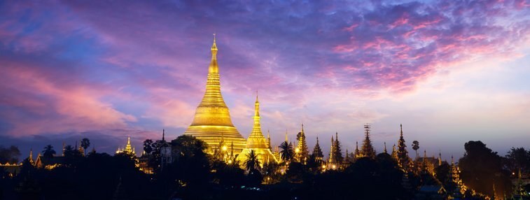 Shwedagon Pagoda is the landmark of Yangon