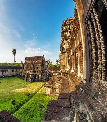 the garden of Angkor Wat