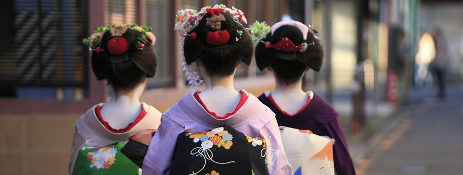 Geisha in traditional costume