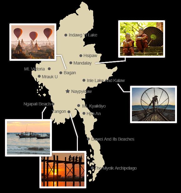 Myanmar Regional Guide Map