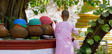Myanmar Nun in Pink