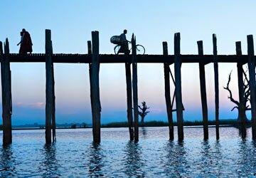 U-Bein Bridge in Mandalay